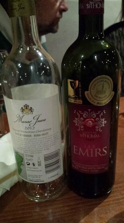 Fatma Restaurant: Recommended wines