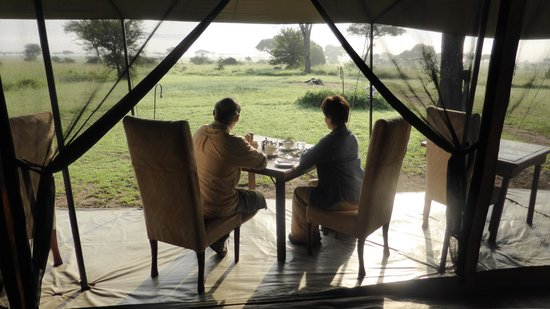 Dunia Camp, Asilia Africa: View at breakfast