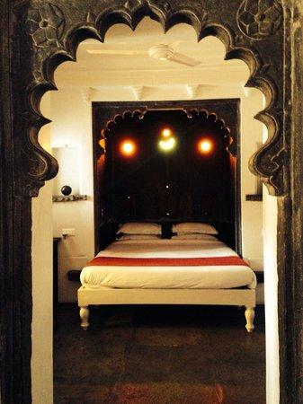 Madri Haveli : Suite Schlafzimmer