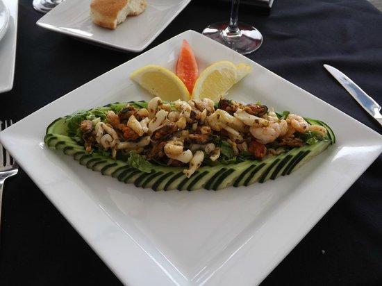 Le P'tit Dome : salade fruits de mer