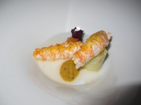 Auberge Frankenbourg: Langoustines- pâte cacao...
