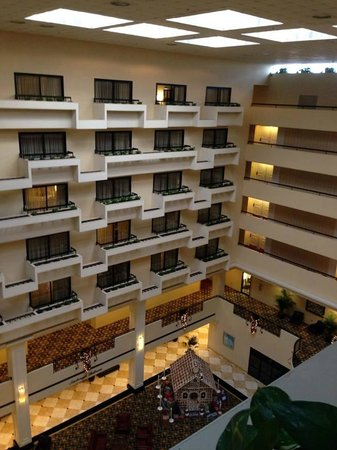 Hyatt Regency Savannah: We had an inside room so our view was the atrium