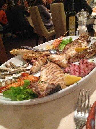 Hotel Villa Rosa Riviera: Grigliata di pesce