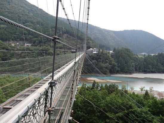 Tanizeno Tsuribashi: 橋の上・谷瀬側から