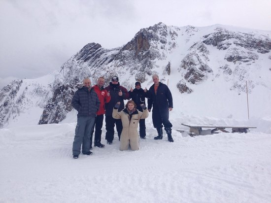 Toby Creek Adventures Ltd.: Our crew on February 15th 2014- Nathan was our amazing guide!