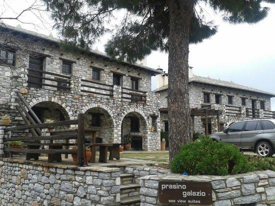 Prasino Galazio : view from the exterior