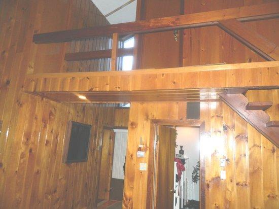 Domaine Ste-Agathe Resort: VUE DES 2 CHAMBRES EN HAUT ET UNE EN BAS
