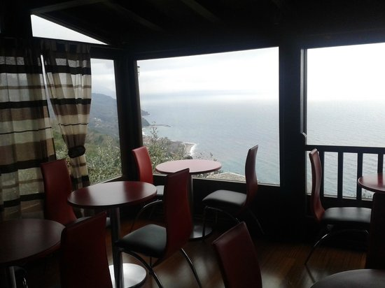 Prasino Galazio : breakfast area
