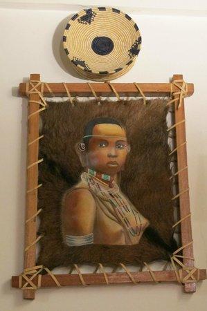 Abyssinia : peinture sur cuir