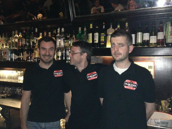 The Dubliner Irish Pub: Andrew, Brian and Janis - Great team