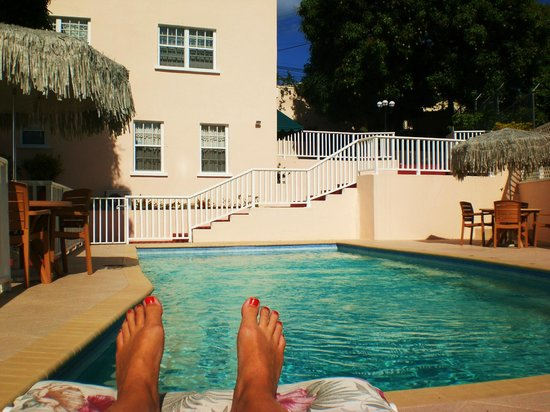 Poinsettia Villa Apartments: Chilling by the pool