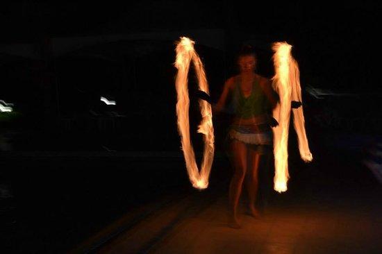 Divi Carina Bay All Inclusive Beach Resort: Fire dancer