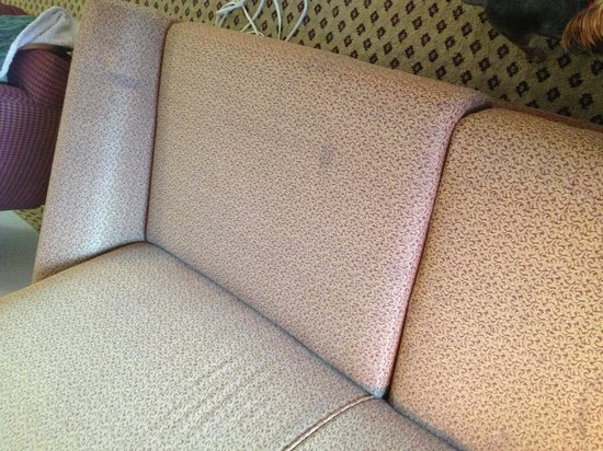 La Quinta Inn & Suites Lubbock North: Dirty Couch. Yuck!