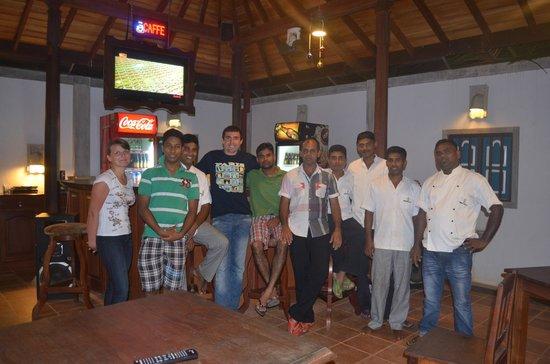 Staff of Panchi Villa, January 2014