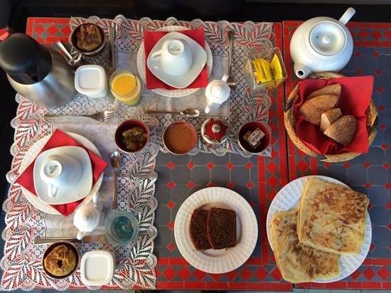 Riad Badi: bumper riad breakfast