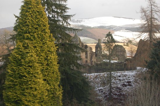 Kildrummy Castle Hotel: view from room across to castle
