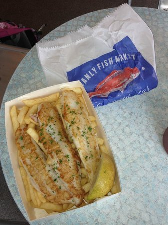 Manly Scenic Walkway: fish and chips and Manly beach