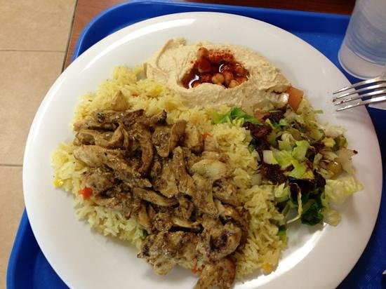 Petra Falafel House : anothet chicken dish with side of whole grain pita bread