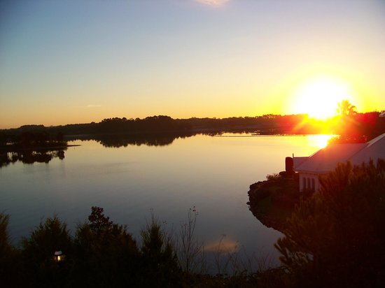 Walt Disney World: View of sunrise from my room at the Villas at the Grand Floridian