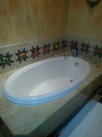 1840s Carrollton Inn: Large jetted tub!