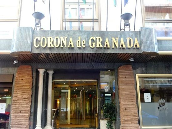 Hotel Corona de Granada: entrada