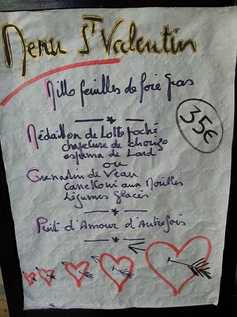 le Bistrot Gourmand : menu