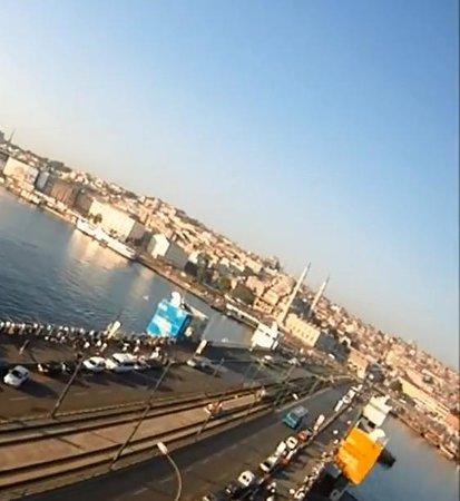 Galata Bridge: galata köprüsü yandan