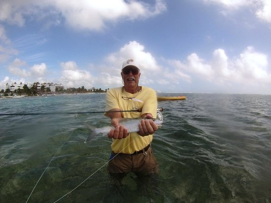 The Western Caribbean Fly Fishing School: First Bone fish ever!