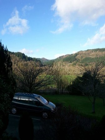 Maes-y-Garth: View from the front porch.