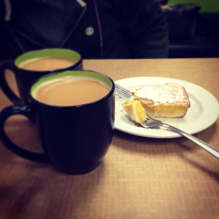 Xanders Coffee: Dark Roast coffee and Luscious lemon bars