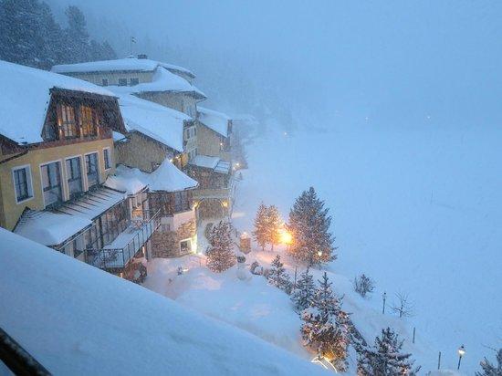 Seehotel Jägerwirt: es schneit heftig