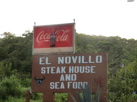 El Novillo del Arenal: The new sign taken February 2014 - also includes seafood