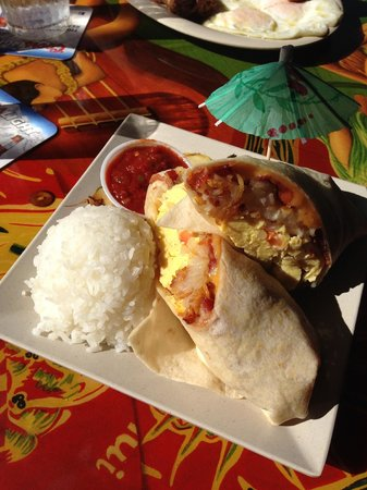 Cheeseburger Island Style: Breakfast Burrito