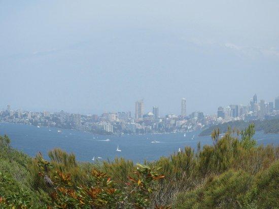 Sydney Coast Walks - Day Walks: VIew from North Head towards Sydney CBD