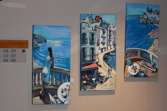 Hotel Estela Barcelona - Hotel del Arte : Arte en los pasillos