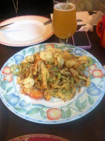 Restaurante Tito: Gamba en tempura