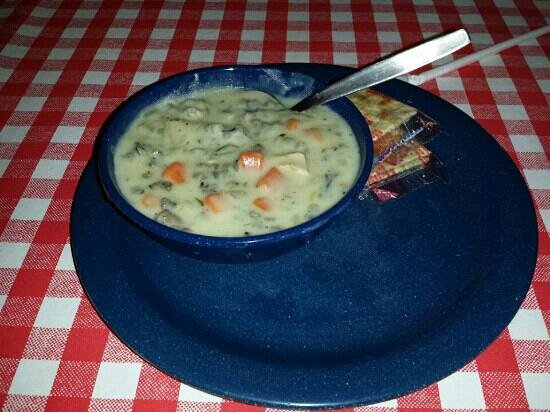 Famous Dave's: Delicious Chicken and wild rice soup
