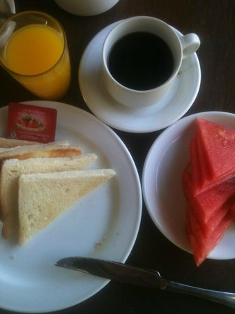 Hotel Bali Warma : Petit-dèj (breakfast)