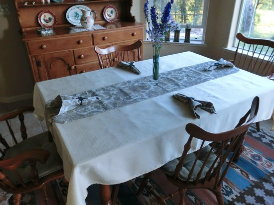 Red Tail Ranch: breakfast table