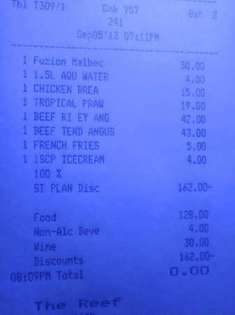 Kuramathi: An example of how much the bill would be if you weren't a la carte. expensive! lol