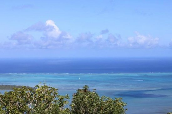 Lakaz Chamarel Exclusive Lodge: Sea view en haut du parc