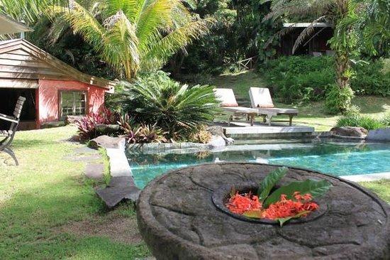 Lakaz Chamarel Exclusive Lodge: Vue piscine Kaz Std