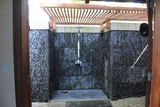 Lakaz Chamarel Exclusive Lodge: Douche Ext Sea view suite