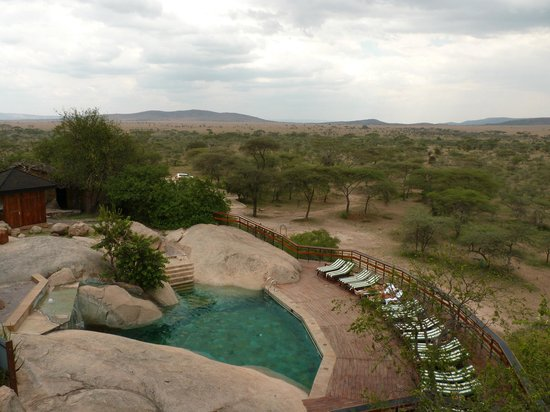 Seronera Wildlife Lodge: Pool area with great view