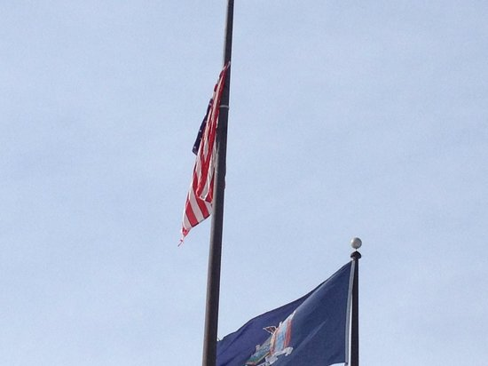 Ramada Plaza Holtsville Long Island : Disgraceful how this Flag was Displayed by Ramada