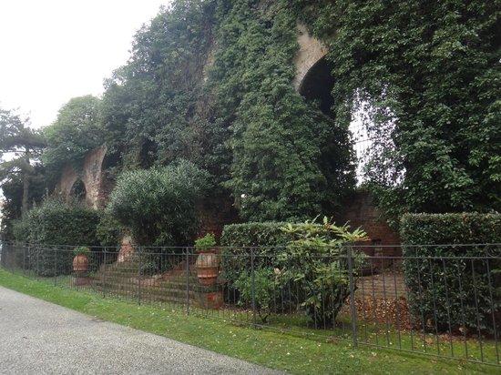 Giardino Scotto: древняя стена в зелени