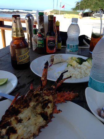 The St. Regis Punta Mita Resort : lunch on the beach from the little boat