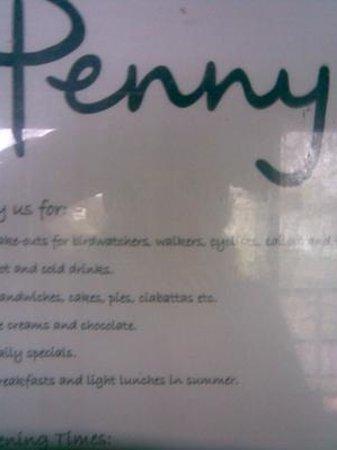 "Staunton Harold Reservoir: God mat hos ""Penny"""
