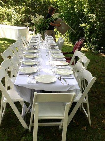 Tower House B&B: Garden Wedding Reception