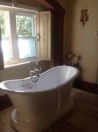 Franschhoek Country House & Villas: our roll top bath villa 21